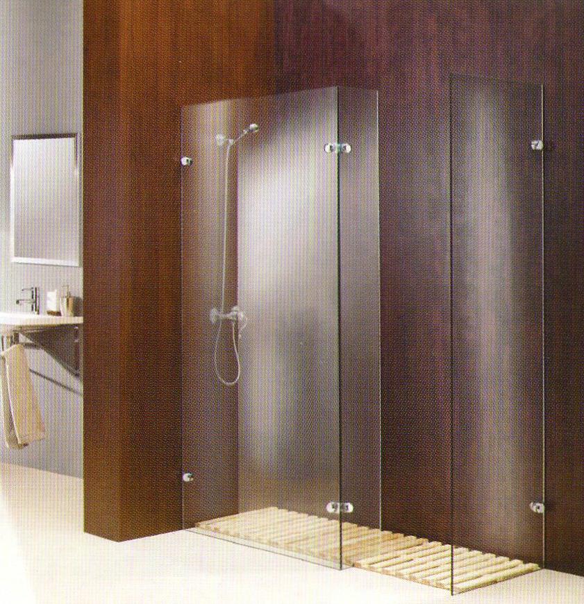 Mamparas de ba o y ducha carpinteria de aluminio villaverde for Bisagra para mampara de ducha