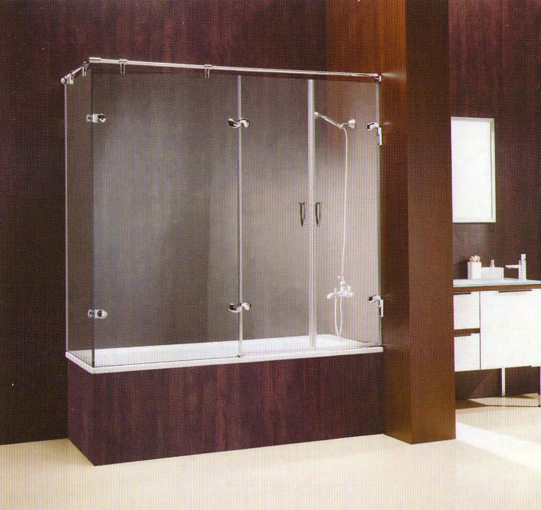 Mamparas de ba o y ducha carpinteria de aluminio villaverde for Herrajes para mamparas de cristal
